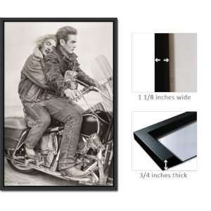 Framed Poster Marilyn Monroe James Dean Bike Fr1394