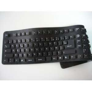 Clear Max Black Silicone Keyboard