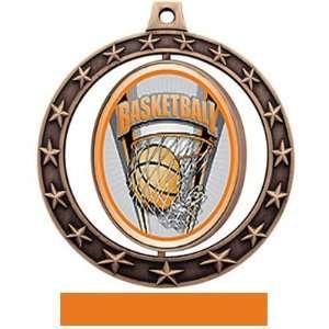 Basketball Spinner Medals Prosport M 7701 BRONZE MEDAL
