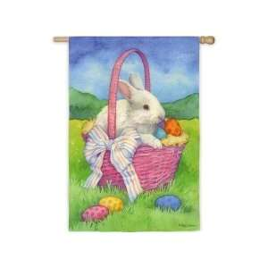 White Bunny Basket Flag (Regular Size) Patio, Lawn