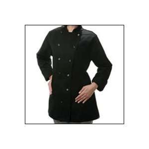 C30 Traditional Ladies Chef Coat (Black) S (1/Order) Home