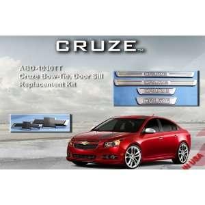 Chevrolet Cruze 2011 & Up Billet Logo Door Sill/Emblem Kit Two Tone