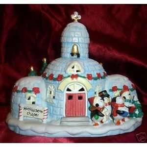 Holiday Time Penguin Church/Village Piece Church/Village