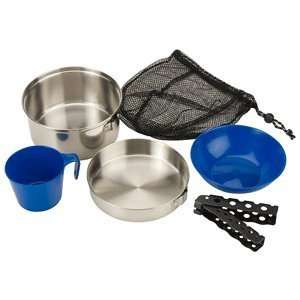 Coleman 1 Person Stainless Steel Mess Kit  Sports