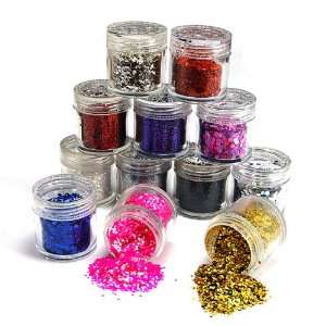 12 color nail art glitter sheets acylic tips Ongle Beauty