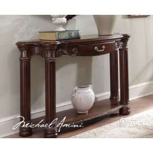 Carlo II Cafe Noir Console Table   Aico N53223 46
