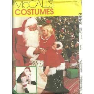 Santa Claus Costume, Bag And Doll McCalls Costumes Sewing Pattern