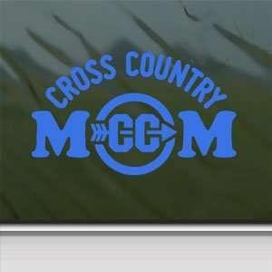 Cross Country Mom Blue Decal Car Truck Window Blue Sticker