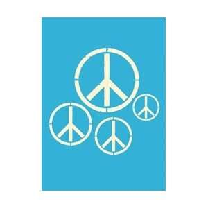 Stencils 5X7 1/Pkg Peace Signs; 3 Items/Order Arts, Crafts & Sewing