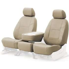 Coverking Custom Fit Front Bucket Seat Cover   Genuine Leather, Beige