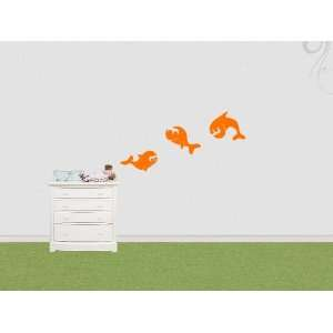 Wall Sticker Decal 3 cute Fishes