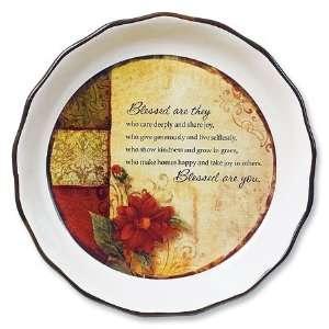 Press Blessed Are You Decorative Ceramic Pie Plate