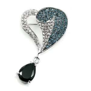 Perfect Gift   High Quality Elegant Brooch with Swarovski