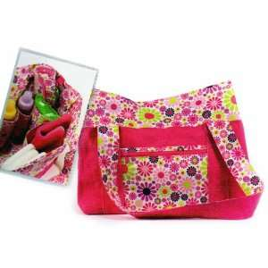 Hot Pink flower Print Diaper Bag Tote Baby