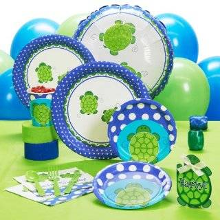 Green Turtle Diaper Cake Baby Shower Centerpiece