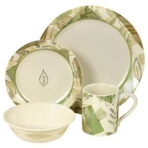 Textured Leaves Dinnerware Set   Case of 2