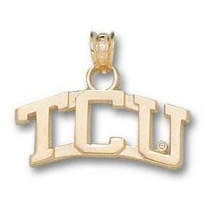 TCU Horned Frogs Solid 10K Gold Arched TCU MOM Pendant