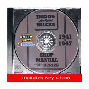 1947 Dodge Truck Shop Service Repair Manual CD (with Key Chain) Dodge