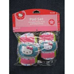 Hello Kitty Childs Knee Pad / Elbow Pad Set  Sports