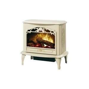 Celeste Compact Electric Fireplace/Stove   Creme