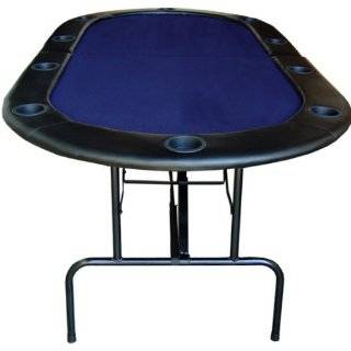 Trademark Poker Table with Folding Legs And Suited Padded Rail Poker