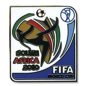 2010 World Cup Logo Pin Badge   White