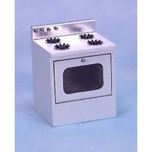 Dollhouse Miniature White Stove: Toys & Games