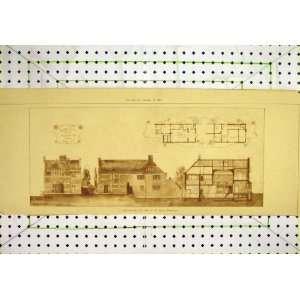 1893 Exterior View Studio House Floor Plan Smith Print