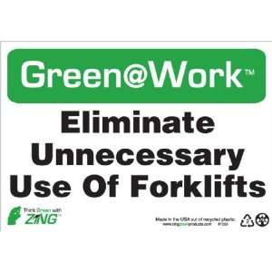 Forklifts, 10 Width x 7 Length, Recycled Plastic, Black/White/Green