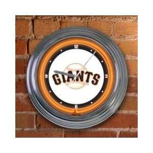 SAN FRANCISCO GIANTS Team Logo 15 NEON WALL CLOCK Sports