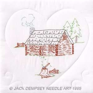 Cabin 18 Quilt Blocks   Embroidery Kit: Arts, Crafts & Sewing
