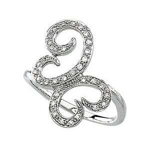 Freeform Butterfly Diamond Ring set in 14 kt White Gold(6) Jewelry