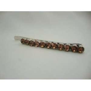 Amber Crystal Hair Pin
