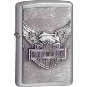 Zippo Lighters 10929 Harley Davidson Iron Eagle Emblem Zippo Lighter