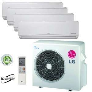 LG 36,000 BTU Quad Zone Mini Split Heat Pump and Air Conditioner