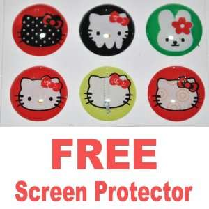 Ec00063k Hello Kitty Home Button Sticker for Apple Ipad