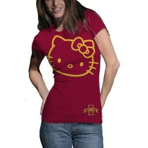 Cyclones Hello Kitty Inverse Junior Crew Tee Shirt