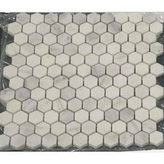 Dollhouse Miniature White Small Hexagon Tile Sheet: Toys & Games