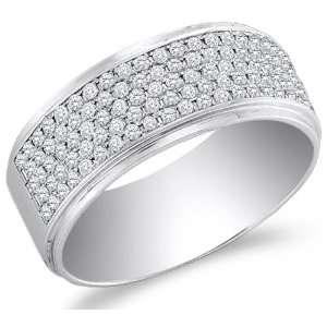 Size 8.5   10K White Gold Diamond Wedding , Anniversary OR Fashion