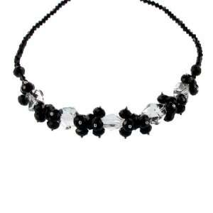 Black Jet Crystal and Crystal Necklace Fashion Jewelry Jewelry
