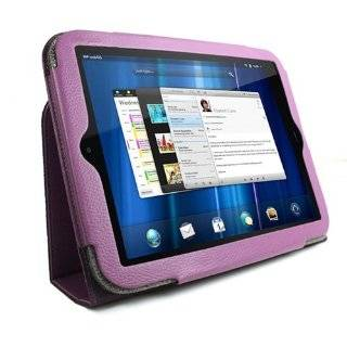 Portfolio Leather Case Cover for HP TouchPad   Green with