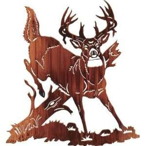Jumping Buck Deer Metal Wall Art  Home & Kitchen
