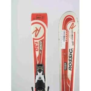 Used Rossignol Edge Jr. Kids Snow Skis with Comp j