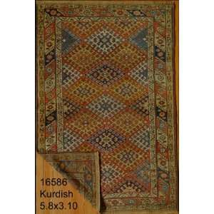 3x5 Hand Knotted Kurd Kurdistan Rug   310x58: Home & Kitchen