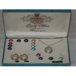 Vintage Lady Ellen Interchangeable Magne gems Magenetic Necklace and