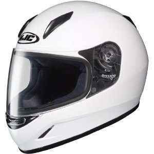HJC CL Y Youth Full Face Motorcycle Helmet White Large L