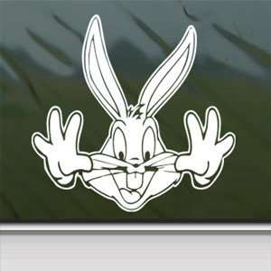LOONEY TOONS RABBIT Laptop Vinyl White Decal Arts, Crafts & Sewing