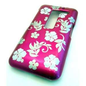 LG MS910 Esteem Pink Victorian Design Gloss Hard Case