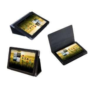 Navitech Black Executive Premium Leather Flip Carry Case