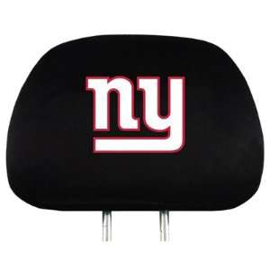 NFL New York Giants Logo Car Seat Head Rest Covers, Pair